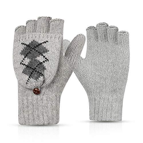- Womens Gloves Fingerless Mittens Winter Warm Fingerless -3961
